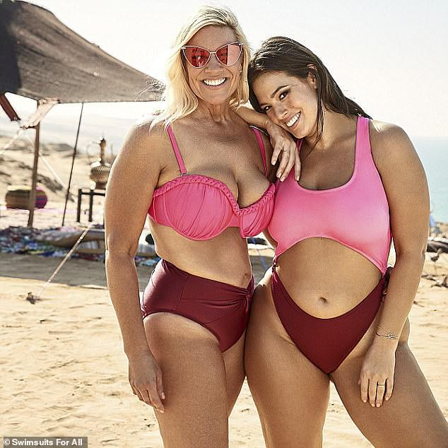 She got it from her mama! Last year, Ashley started alongside her mother Linda Graham in one of her Swimsuits For All campaigns
