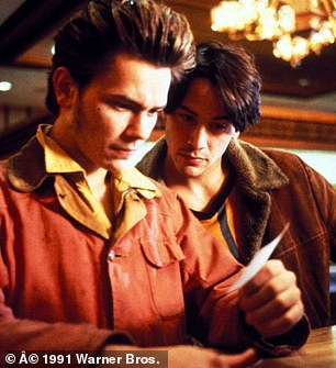 Phoenix seen here with Keanu Reeves in 1991's My Own Private Idaho