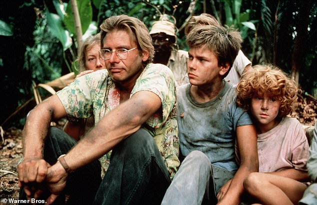 An early hit: Harrison Ford and Phoenix, middle, in The Mosquito Coast - 1986