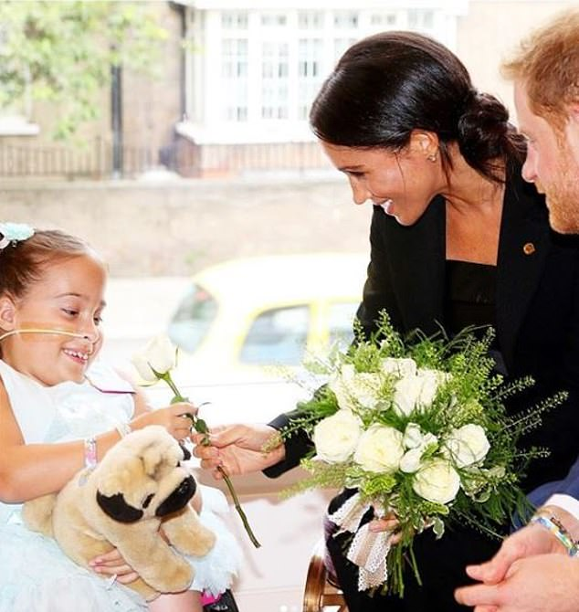 The parents-to-be have made a series of posts highlighting charities they would like people to donate to, in lieu of gifts for the baby; today it's WellChild, a charity Harry has been patron of since 2007. Meghan is in the photo with him