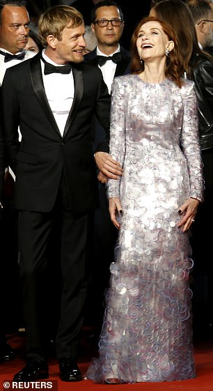 Co-star: The actress, who stars as the titular character in Frankie, was joined by her co-star Jérémie Renier, 38, as she made her way into the venue