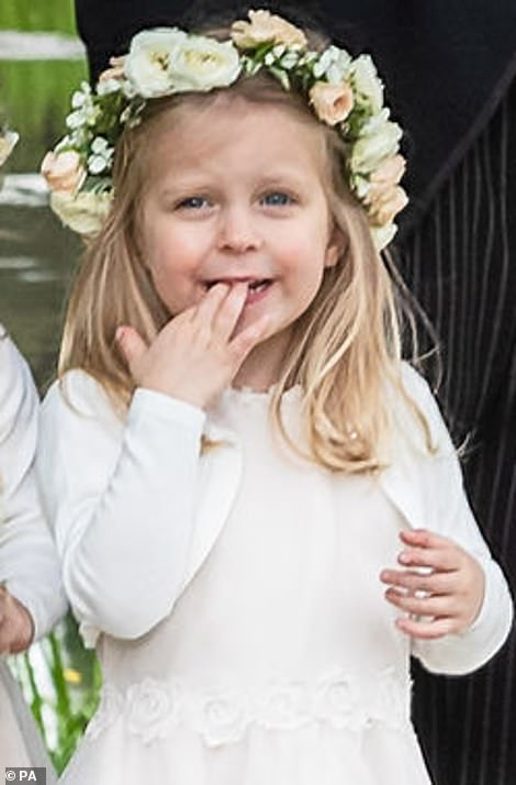 Little is known about Leonora Weisman, who is the sixth adorable bridesmaid seen in the photos. She chews on her hand in the outside photo