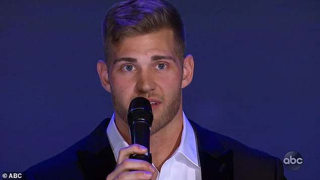 Love letter: Luke Parker grabbed a mic and delivered a love letter to Hannah