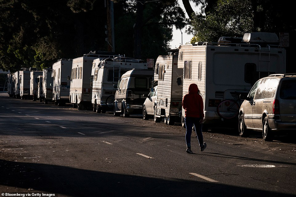 Residents of the expensive California neighborhood where Google has its global headquarters have voted to ban trailers from parking overnight on public streets
