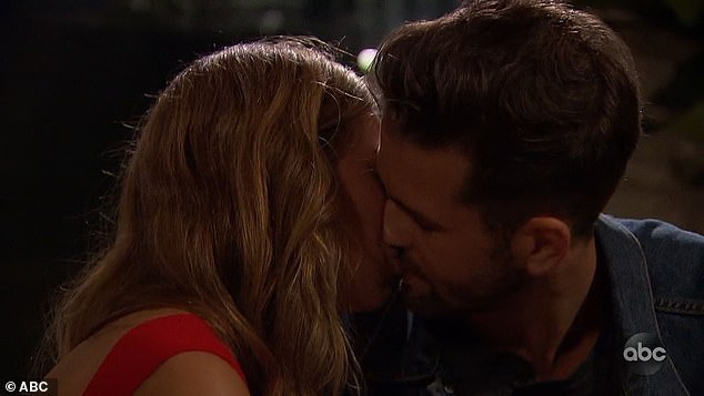 Date rose: Hannah and Jed kissed after he won the group date rose