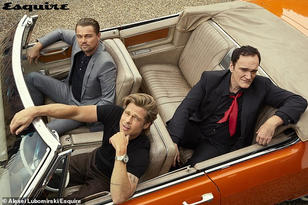 Trio: They are starring one of this year's most anticipated movies, Quentin Tarantino's Once Upon A Time In Hollywood. And for the summer issue of Esquire magazine Brad Pitt and Leonardo DiCaprio sat down with their director to talk about how the movie came together