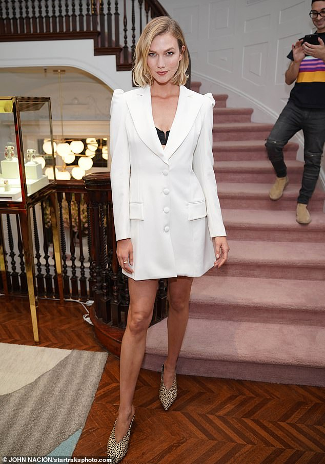 Stunner: Karlie Kloss, 26, was spotted at The Curated NYC One Year Anniversary in New York City on Tuesday
