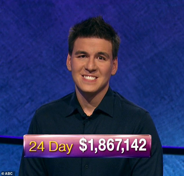 James Holzhauer, 34, has won nearly $1.9million, which he has amassed over 24 consecutive wins on the hit quiz show Jeopardy!