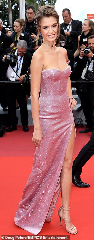 Sparkle: The star looked incredible as she took to the red carpet