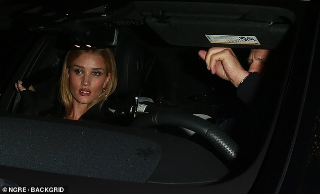 Chat; The pair were seen chatting in the car as they prepared to make their way home