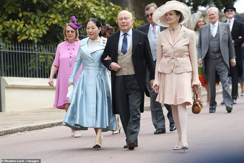 Julian Fellowes, who is well known as creator, writer and executive producer of TV drama Downton Abbey, arrives