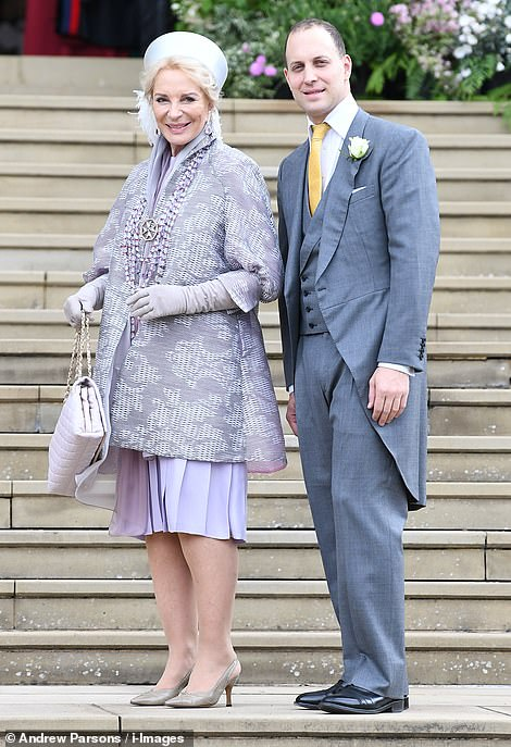 Princess Michael of Kent with her son Lord Frederick Windsor