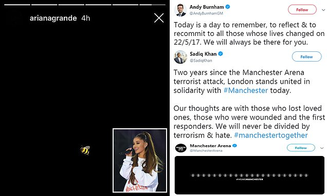 Ariana Grande leads tributes to Manchester terror attack victims