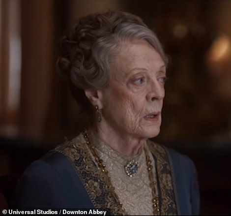 Apprehensive; The outspoken Dowager doesn't look thrilled by the news