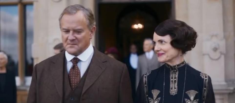 Here we go!The trailer ends with the Abbey welcoming the King and Queen, played by Simon Jones and Geraldine James. 'Your Majesties welcome to Downton Abbey,' welcomes Countess of Grantham (Elizabeth McGovern)