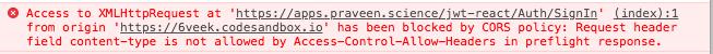 CORS Error Preflight