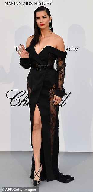 Turn-out: Kendall Jenner looked sensational as she joined Eva Longoria and Adriana Lima on thered carpet foramfAR's 26th Cinema Against AIDS Gala during the 72nd annual Cannes Film Festival on Thursday
