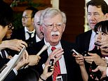 """FILE - In this Friday, May 24, 2019, file photo, U.S. National Security Adviser John Bolton is surrounded by reporters at the prime minister's official residence in Tokyo, Japan. North Korea on Monday, May 27, 2019, has called U.S. National Security Adviser Bolton a """"war monger"""" and """"defective human product"""" after he called the North's recent tests of short-range missile a violation of U.N. Security Council resolutions. (Yohei Kanasashi/Kyodo News via AP, File)"""