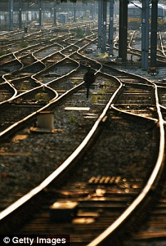 A couple have been run over by a train while having sex on the tracks in South Africa (file photo)