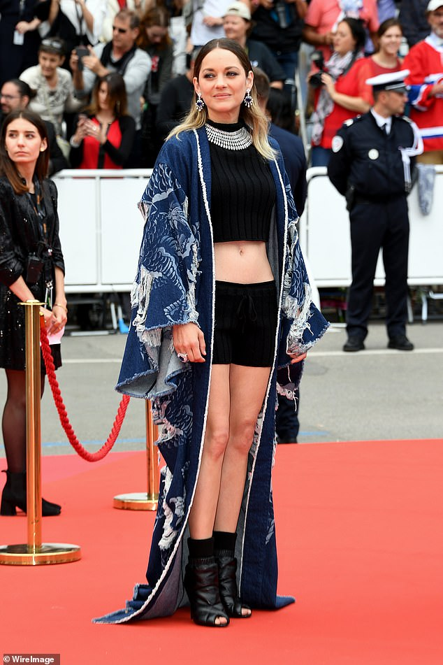 Ab envy:Marion Cotillard revealed her honed frame once more as she arrived at the Matthias Et Maxime premiere during the Cannes Film Festival on Wednesday