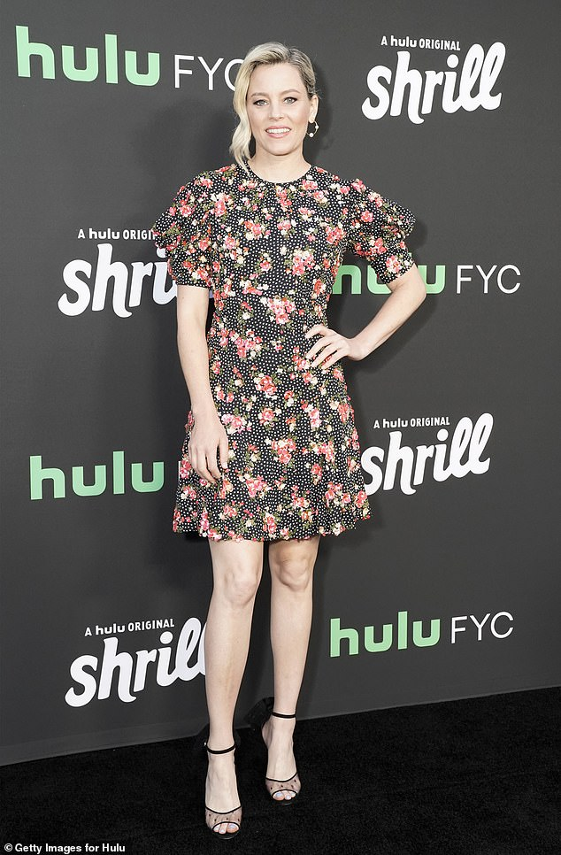 All smiles:Elizabeth Banks looked stunning in a floral print dress while promoting her Hulu series Shrill at a For Your Consideration Q&A screening