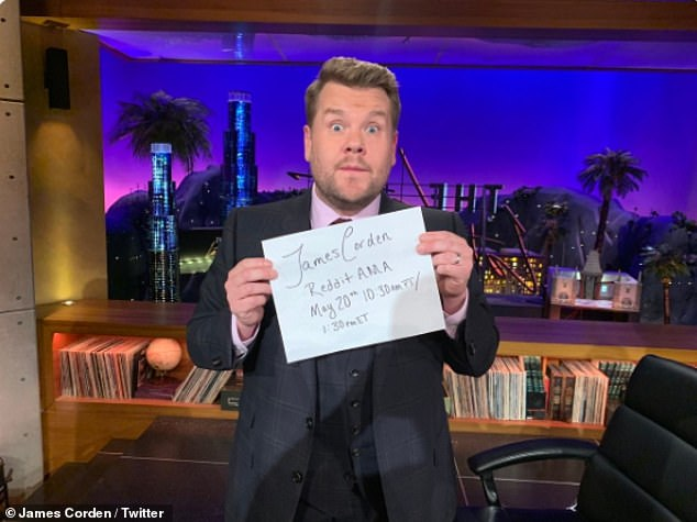 Ouch! James Corden surprised fans by going on Reddit's AMA but it massively backfired when fans called him a 'rude, a**hole c***' and accused him of advocating lower wages for writers