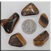 set of five tumbled stones