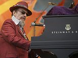 FILE - In this April 26, 2008 file photo, Dr. John performs during the 2008 New Orleans Jazz & Heritage Festival in New Orleans. The family of the Louisiana-born musician known as Dr. John says the celebrated singer and piano player who blended black and white musical influence with a hoodoo-infused stage persona and gravelly bayou drawl, has died. He was 77. A family statement released by his publicist says Dr. John, who was born Mac Rebennack, died early Thursday of a heart attack. (AP Photo/Dave Martin, File)