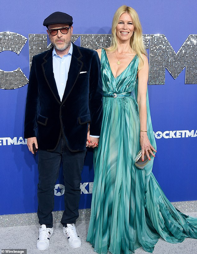 Holding hands: Rocketman co-producer Matthew Vaughn held hands with his wife Claudia upon arrival at Alice Tully Hall for the premiere