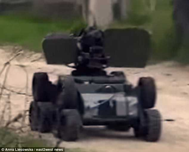 The machine was mounted with an armament and appeared to be being controlled remotely