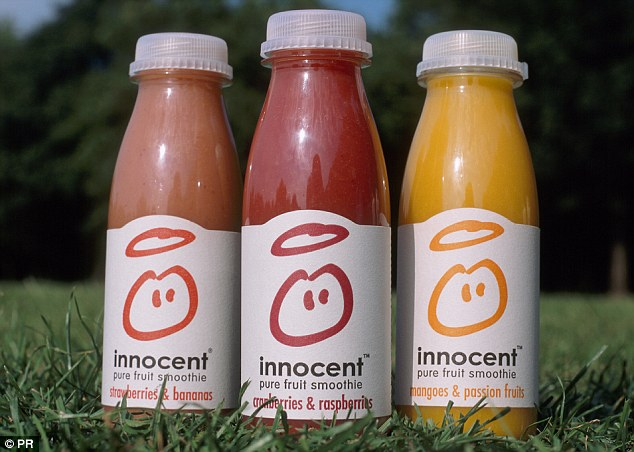 Defence: Innocent, owned by Coca Cola, claims smoothies contain the same amount of sugars as whole fruit