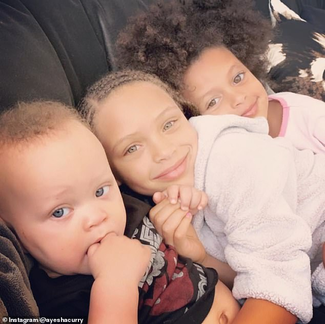Sweet: They also have a six-year-old daughter named Riley and a three-year-old daughter named Ryan