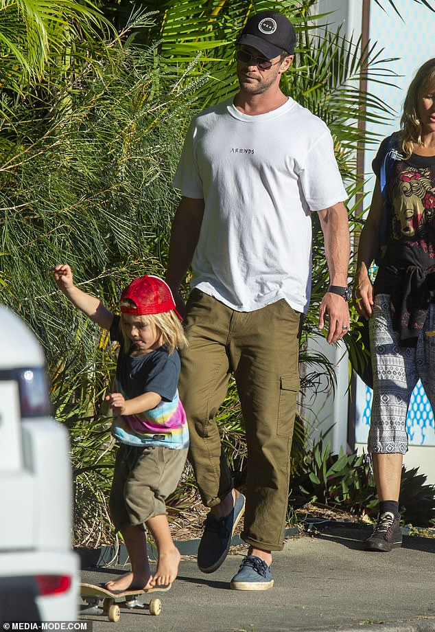 Just another local! The kids each rocked their bohemian Byron Bay style as they headed home