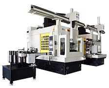 AM520/16交换工作台十六主轴加工中心+机器人一体机