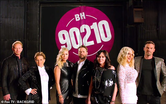They're back! The six episode revival, titled BH90210, will bring back the show's principal players: Gabrielle Carteris, Tori Spelling, Jason Priestley, Shannen Doherty, Jennie Garth and Ian Ziering (pictured May 14)