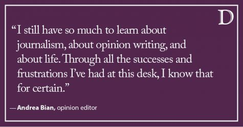 Bian: A farewell to opinion, but not to tough topics