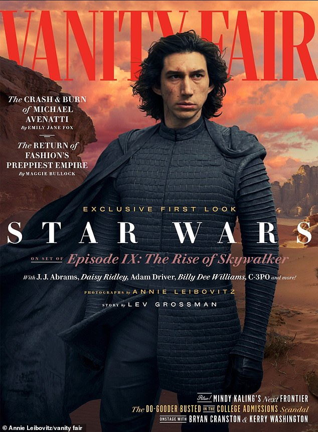 Lonely boy: Adam Driver, who plays Kylo Ren, talked being abandoned by Han Solo. 'How do you form friendships out of that?' Driver asked. 'How do you understand the weight of that? And if there's no one around you guiding you, or articulating things the right way ¿ it can easily go awry'