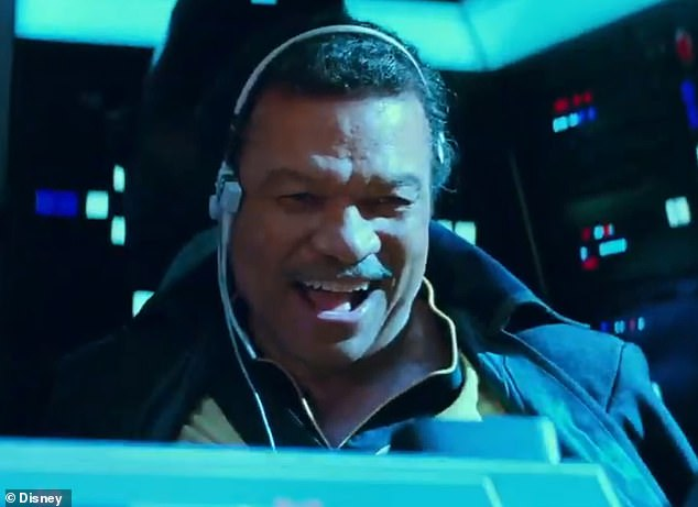 Back for fun: Billy Dee Williams, 82, is bringing back his character Lando Calrissian who was the charismatic friend who betrayed then helped Han Solo, played by Harrison Ford. 'He's a survivor. It's expediency for him,' Williams says