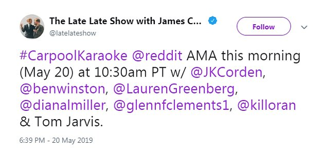 It's really him: James proved it was him on the site with this tweet - he also held up a sign quoting Reddit and shared it on social media
