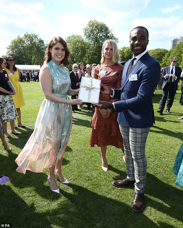 Princess Eugenie also spoke with Strictly Come Dancing winner Ore Oduba and his wife Portia