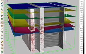 Post-stack and pre-stack data and corresponding interpretation in GeoDepth