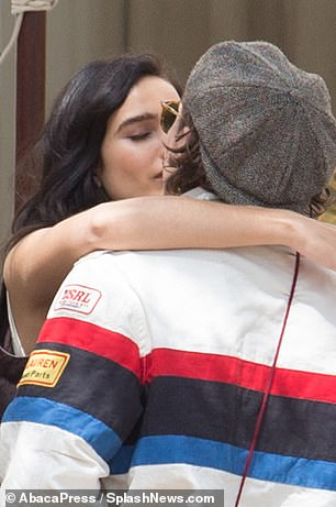 PDA-packed: The young couple enjoyed a sweet kiss during their outing