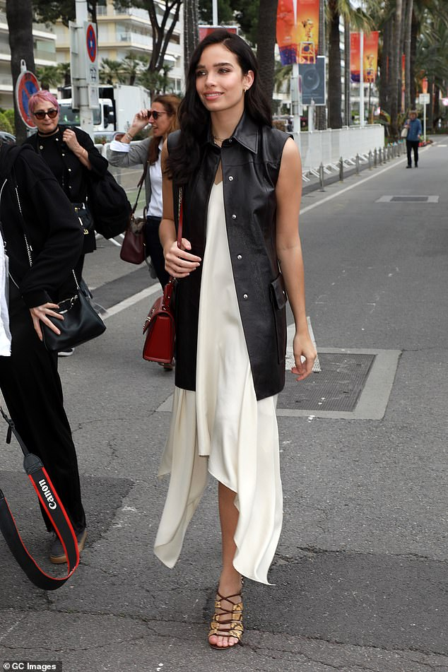 Stepping out: All eyes were on Hana as she made her way out and about in Cannes