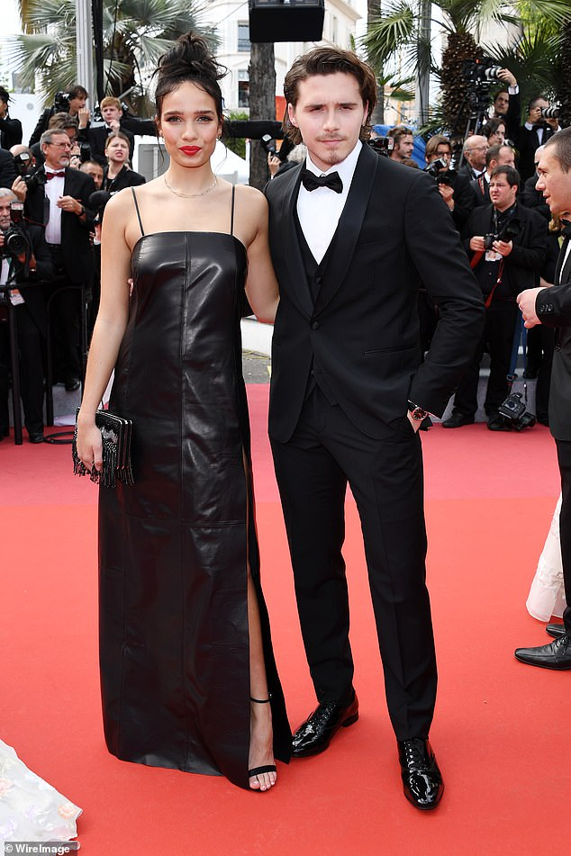 Stunning:They were inseparable as they made their red carpet debut at the star-studded Once Upon A Time In Hollywood premiere in France on Tuesday evening