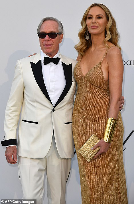 Together: Tommy Hilfiger and Dee Ocleppo soaked up the spotlight as they posed away for photographers