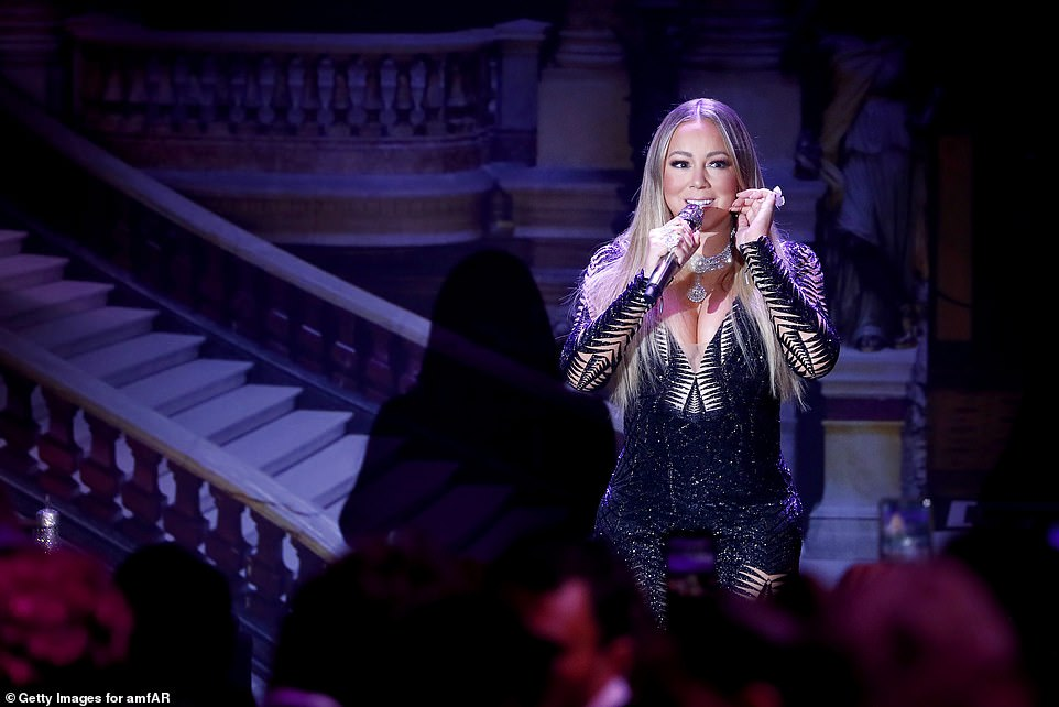 A sensation: The music legend looked incredible as she hit the stage