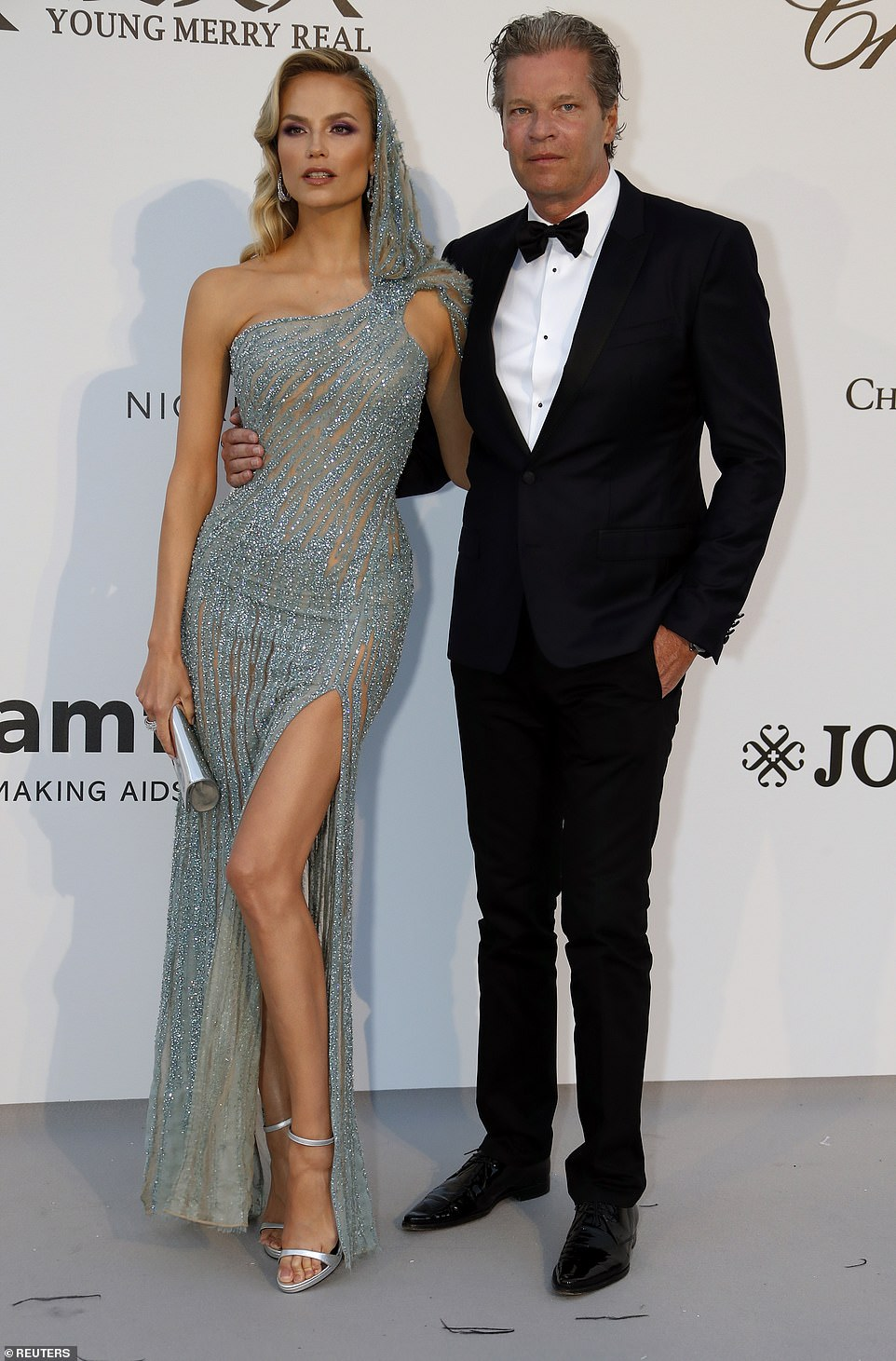 Hot couple: Natasha was soon joined by her handsome husband Peter Bakker