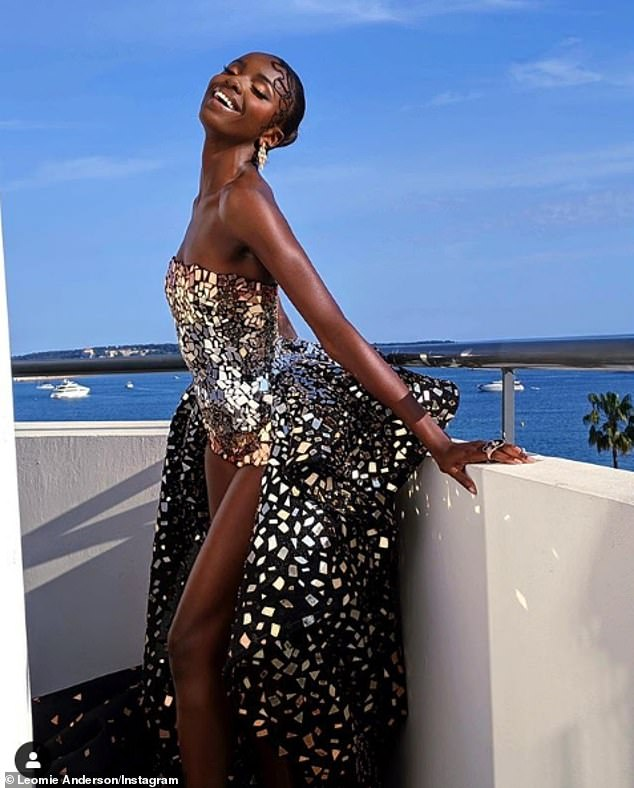 Strike a pose! Leomie posted a stunning shot of her Cannes look on her Instagram before heading to the star-studded premiere
