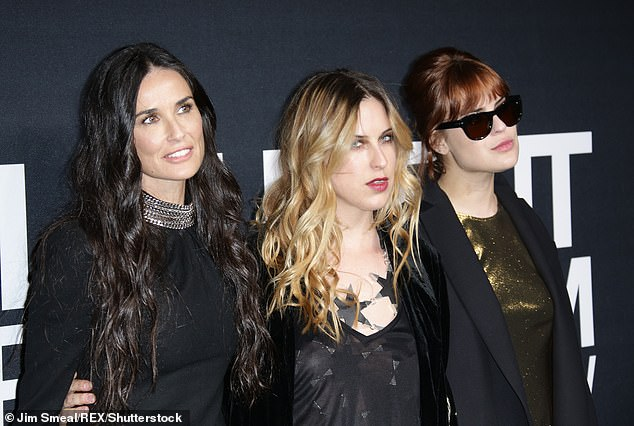 All girls:In the 1980s, the mother of Rumer, 30, Scout, 27 and Tallulah, 25, checked into rehab for a drug and alcohol addiction; seen with Scout and Tallulah in 2016