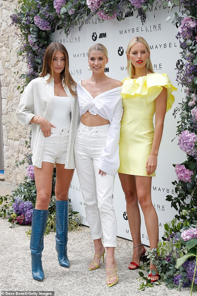 Ladies who lunch: Models Lorena Rae, Lena Gercke and Karolína Kurková enjoyed the Wellbeing Summer Lunch during the Film Festival on Wednesday